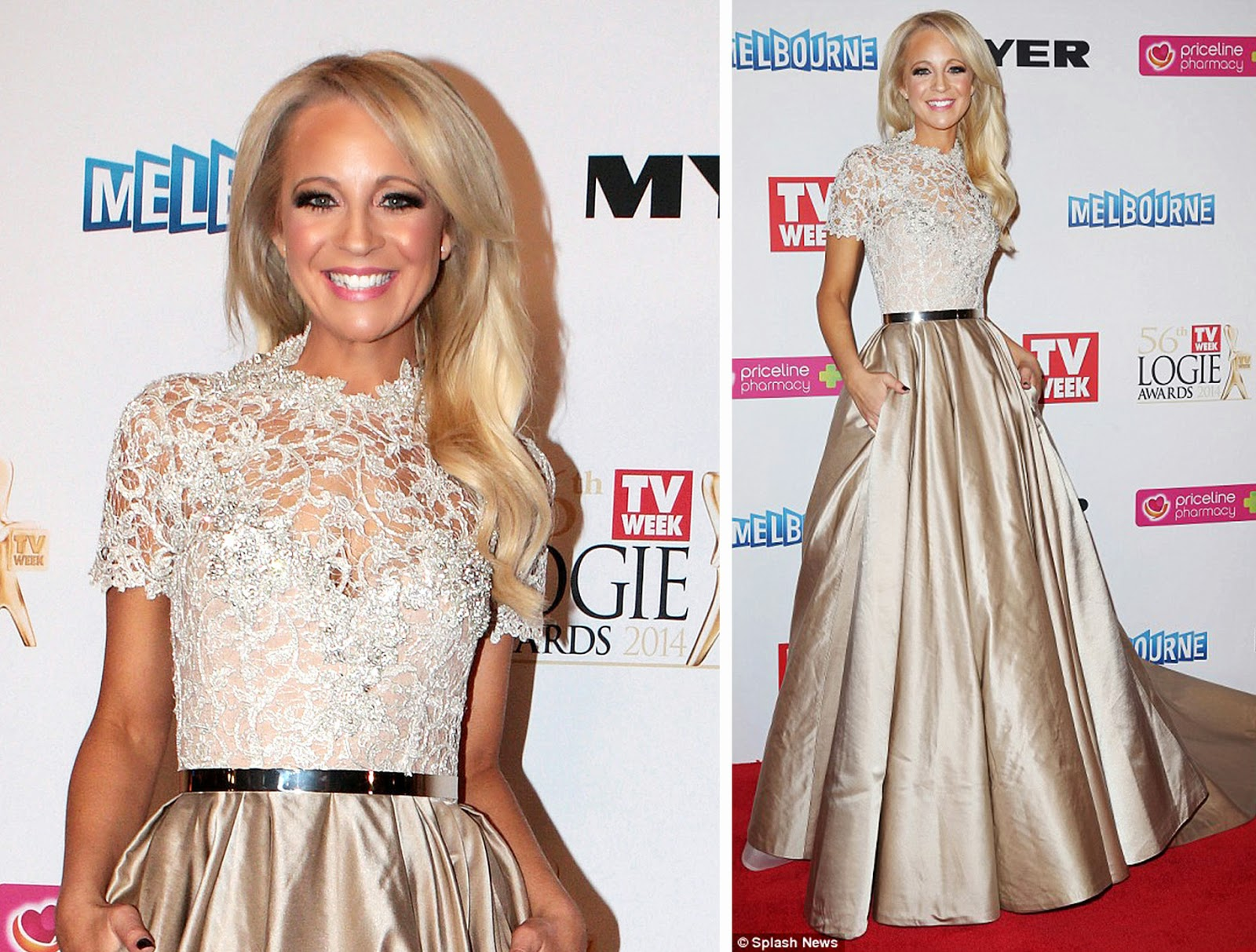 Carrie Bickmore Logies 2014
