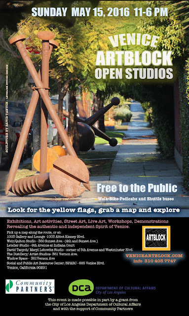 Venice ARTBLOCK Open Studios- Sunday May 15,2016