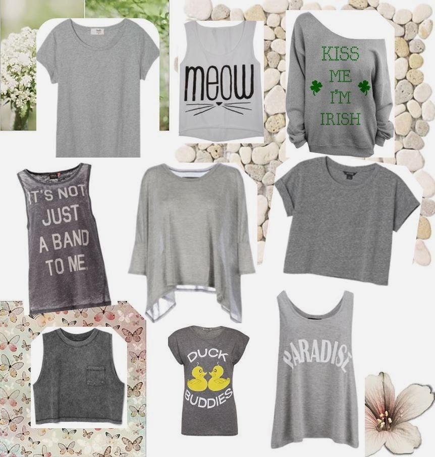 Grey T-shirt, Grey T shirt, Grey