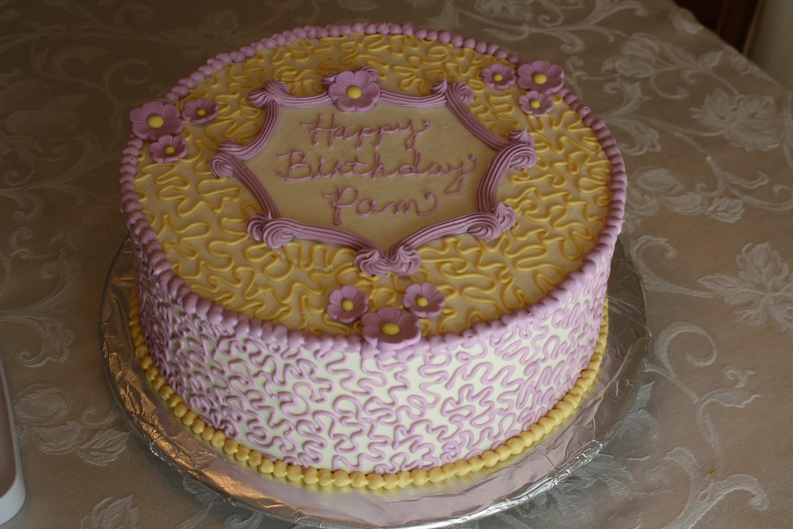 Cakes by Elizabeth: April 2012 - Purple & Yellow Birthday Cake