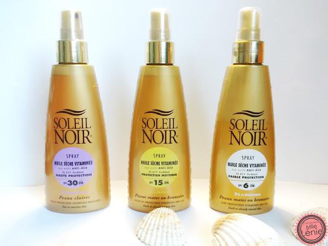 Spray huiles sèches Vitaminées Soleil Noir  SPF30 - SPF15 - SPF6