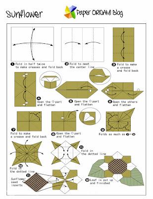 Sunflower free origami