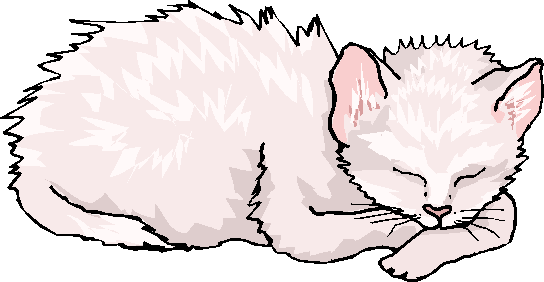 Sleeping White Cat Free Animal Clipart