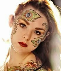Face / body painting atau Lukis Wajah tubuh dan tangan