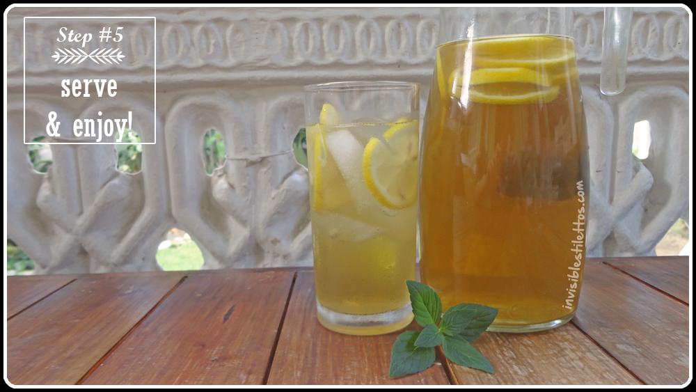 Fresh Lemon Iced Green Tea