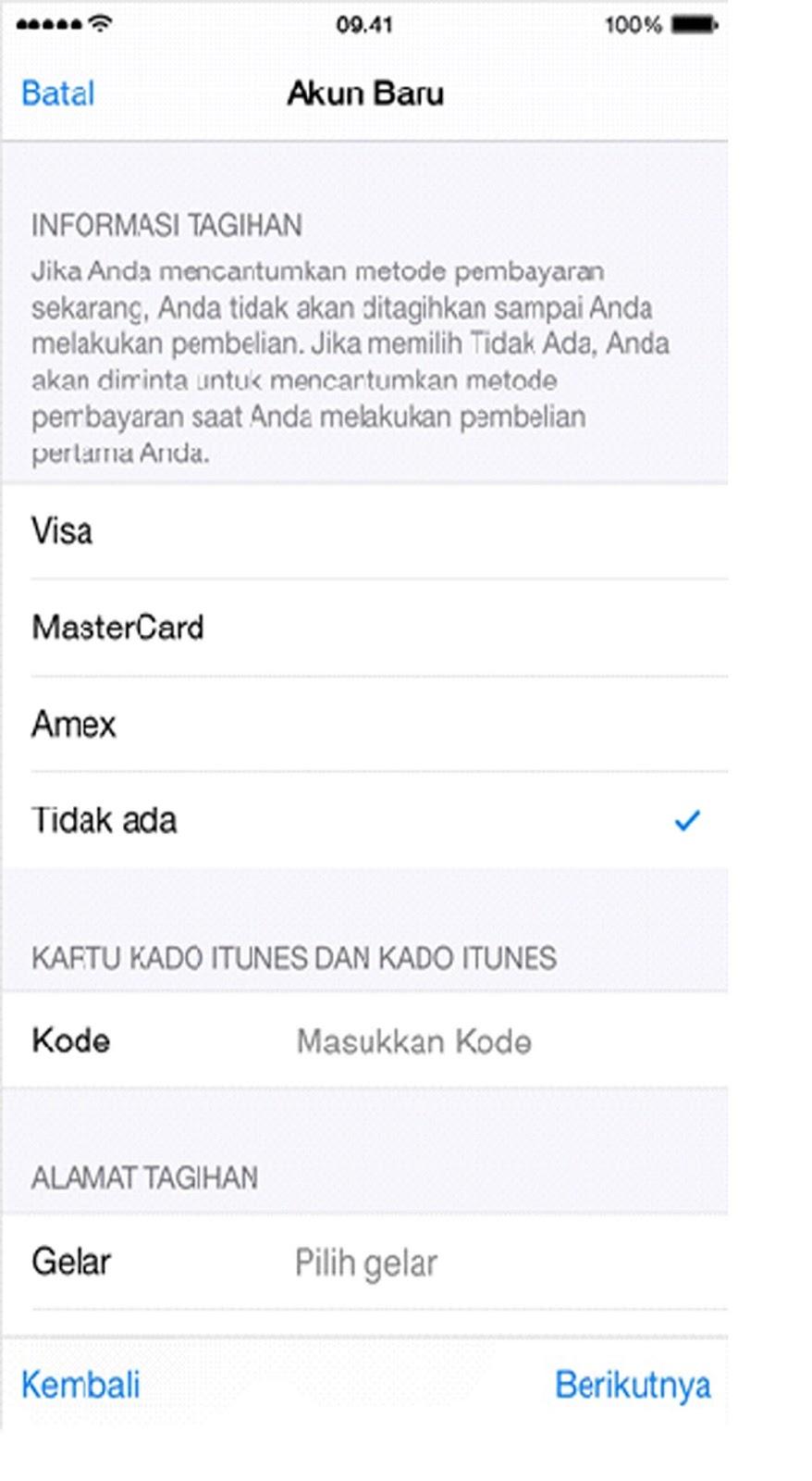 membuat id apple gratis di iphone membuat apple id gratis