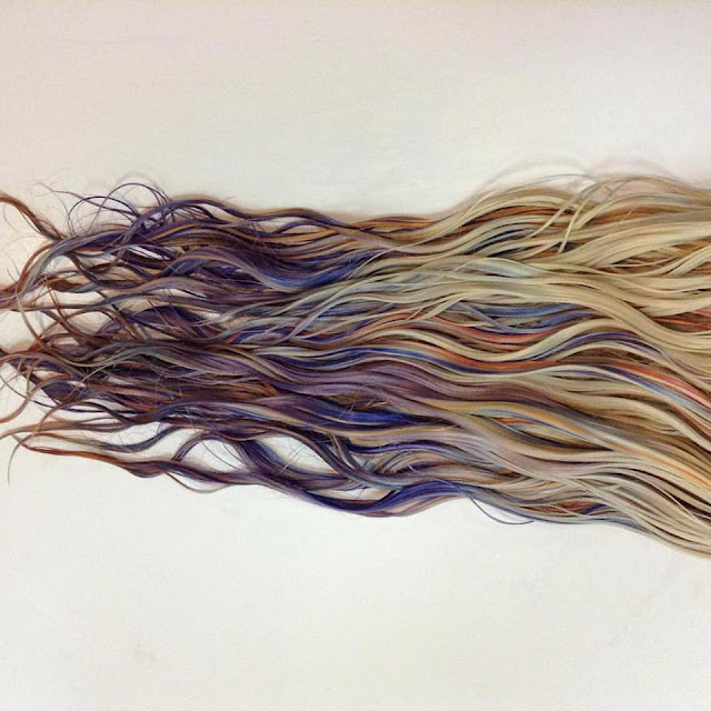 Fluid hair painting by kl christoffersen is the coloring for Fluid hair painting