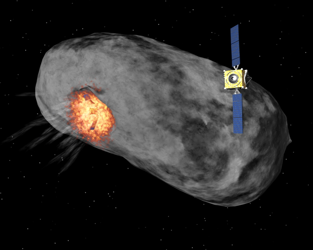 asteroid in space blowing up - photo #2