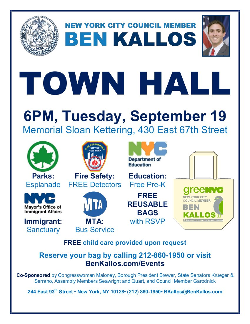NYC Council Member Ben Kallos Town Hall Meeting