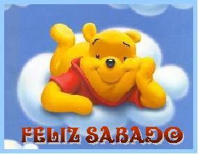 tarjetas de feliz sabado con winnie pooh