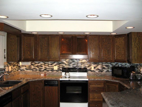 brick tile backsplash