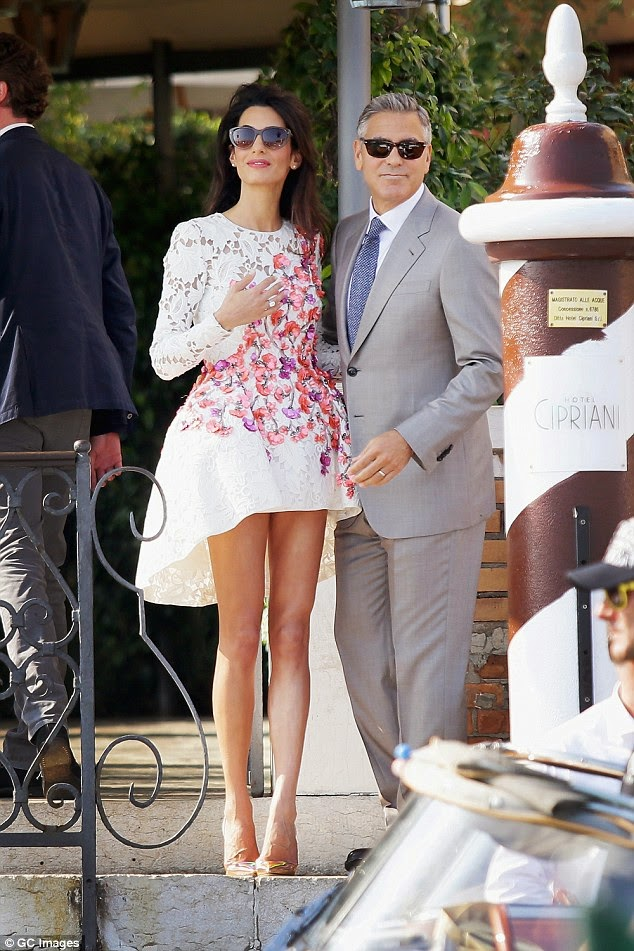 Clooney & Wife (1)