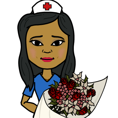 nurse flowers cartoon carin