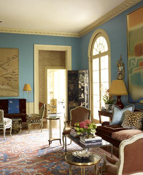 Miles Redd, Danielle Rollins's home, living room via belle vivir blog