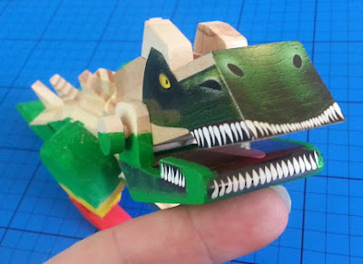 Interplay wooden Wood Worx Dinosaur model articulated mouth