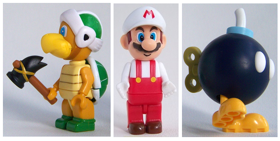 Knex Super Mario Fire Mario Hammer Bro & Mystery Figure 3 pack