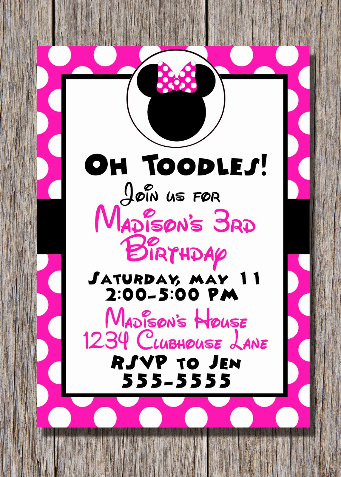 Pamela Renee Designs: Party Theme: Pink or Red Minnie Mouse Party ...