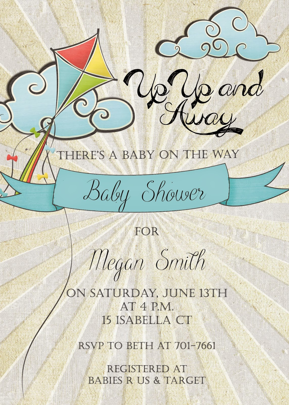 Sugar and Spice Invitations: Spring Baby Shower Invitation, Up, Up ...