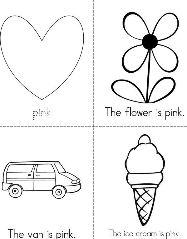 ask the teacher: Free colour pink worksheet