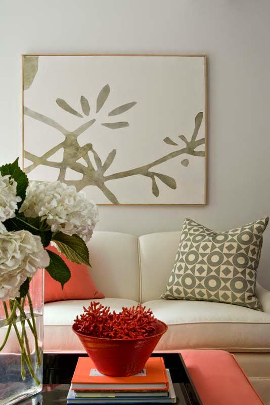 Decoracion en color salmon