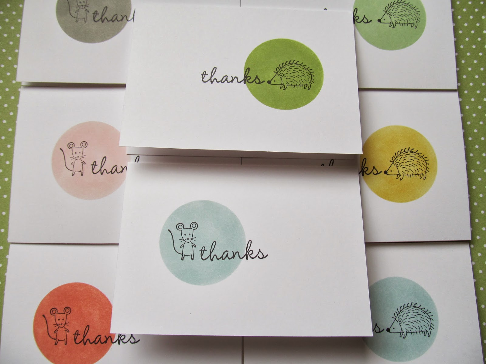 Life in the Forest - cute thank you card Jemini Crafts