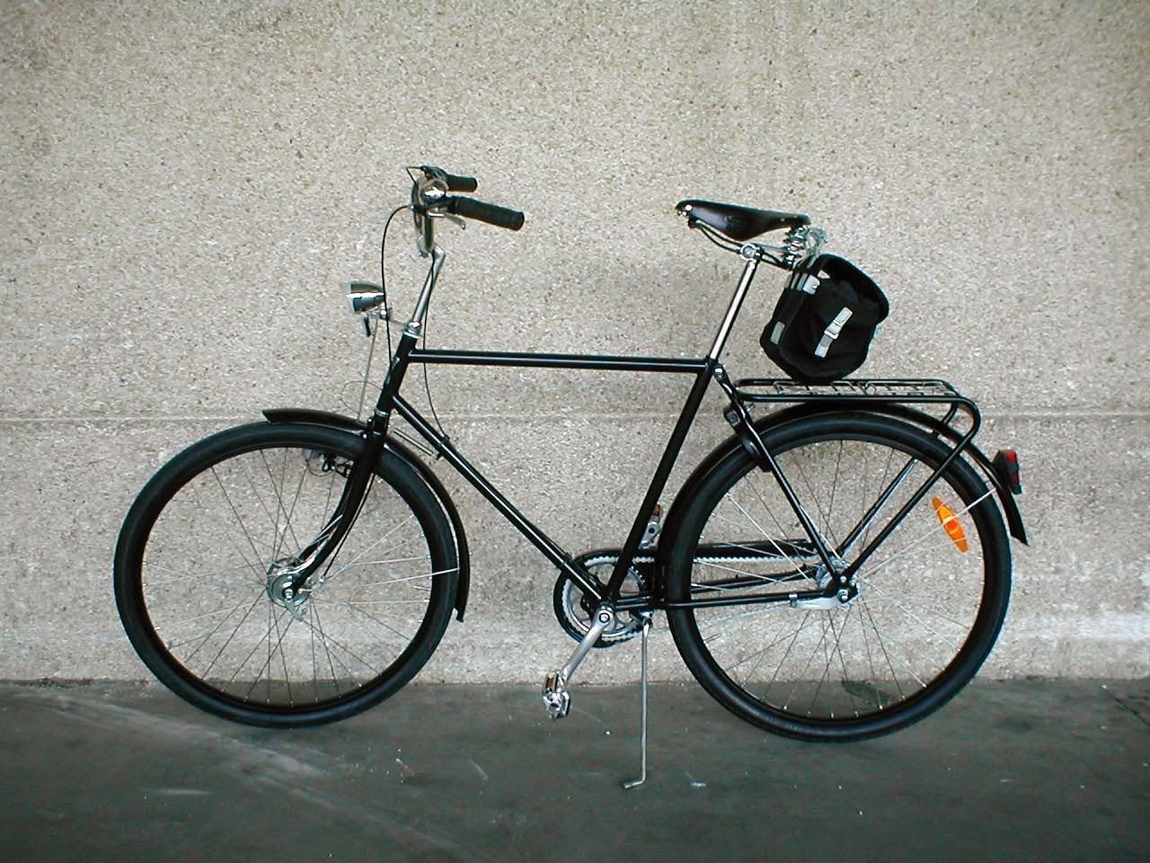 Carradice Saddlebag en bicicelta clasica Pilen