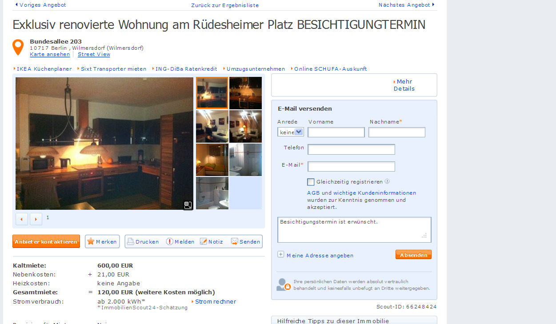 Exklusiv Renovierte Wohnung Am Rüdesheimer Platz Besichtigungtermin