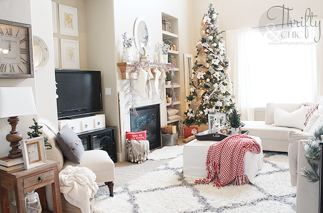 Great Christmas Decor And Decorating Ideas From Thrifty And Chic S Christmas Home Tour