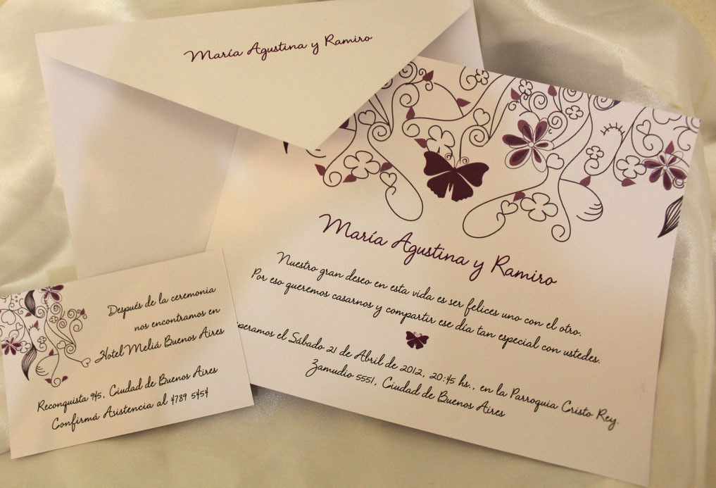 Invitaciones y tarjetas de casamiento promociones que no - Modelos de tarjetas de boda ...