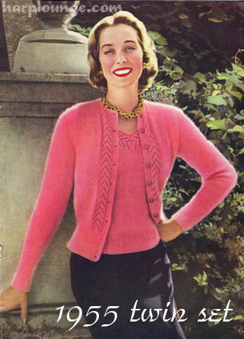 1950's Knitting - Twin Set For Glamorous Evenings free pattern