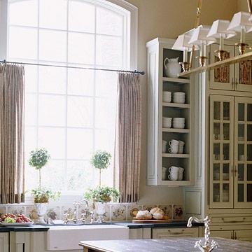 New home interior design kitchen window treatments - Modern window treatments for kitchen ...