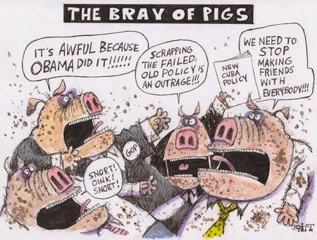 Chris Britt: The Bray of Pigs.