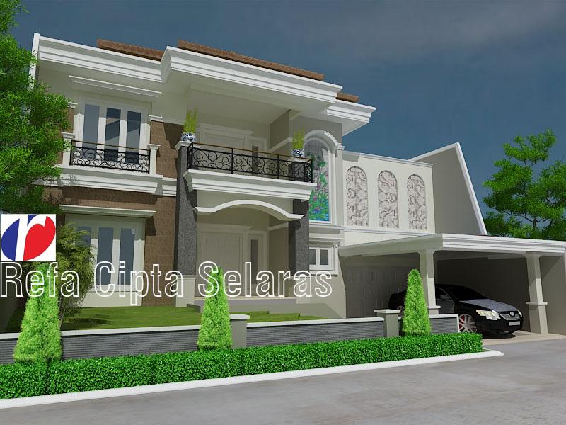 model tampak rumah dengan atau tanpa dak talang refa