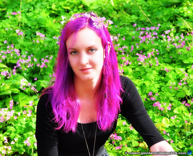 Kellen with purple hair, Copyright 2010 Robert Giordano