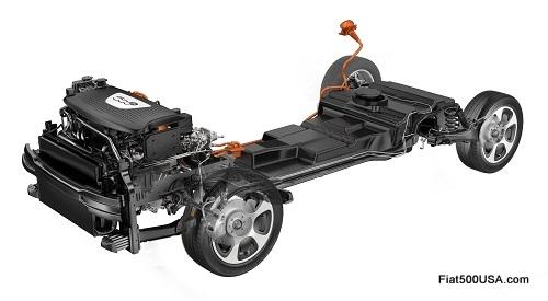 Fiat 500e chassis
