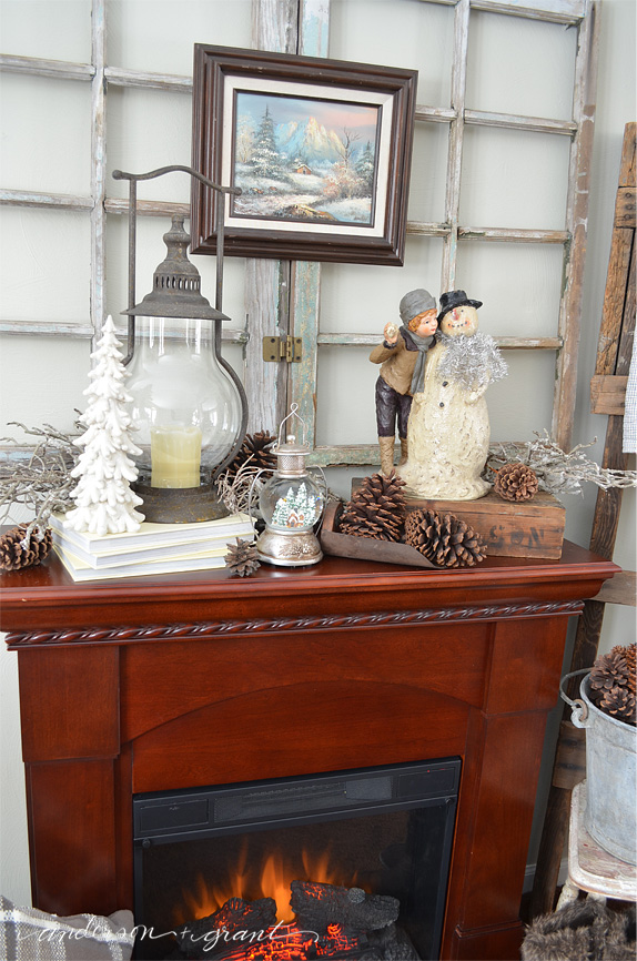 Decorating your fireplace mantel for winter using a few simple tips....www.andersonandgrant.com