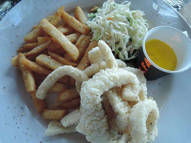 chips, calamari, seafood, alfa, bakery, cafe, brunch, lunch, seddon