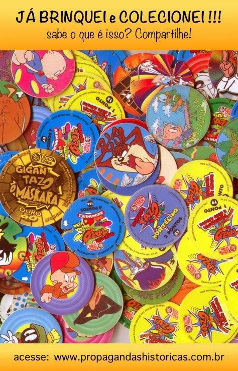 Tazo: colecionáveis da Elma Chips que fez muito sucesso nos anos 90.