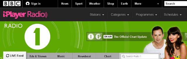 Las más importantes emisoras de radio Inglesa - BBC Radio 1