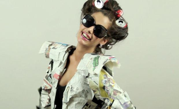 Disfraz reciclado de Lady Gag
