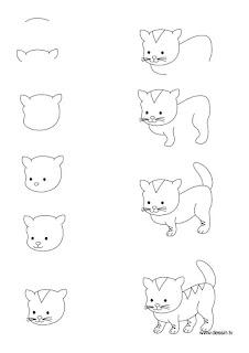 Các cách vẽ con mèo dễ