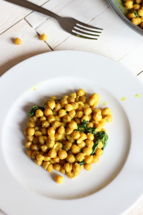 Recette vegan curry de pois chiches lait de coco