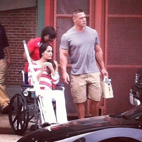 Nikki Bella Wheel Chair Photo Source Misses Show Wrestling Hype