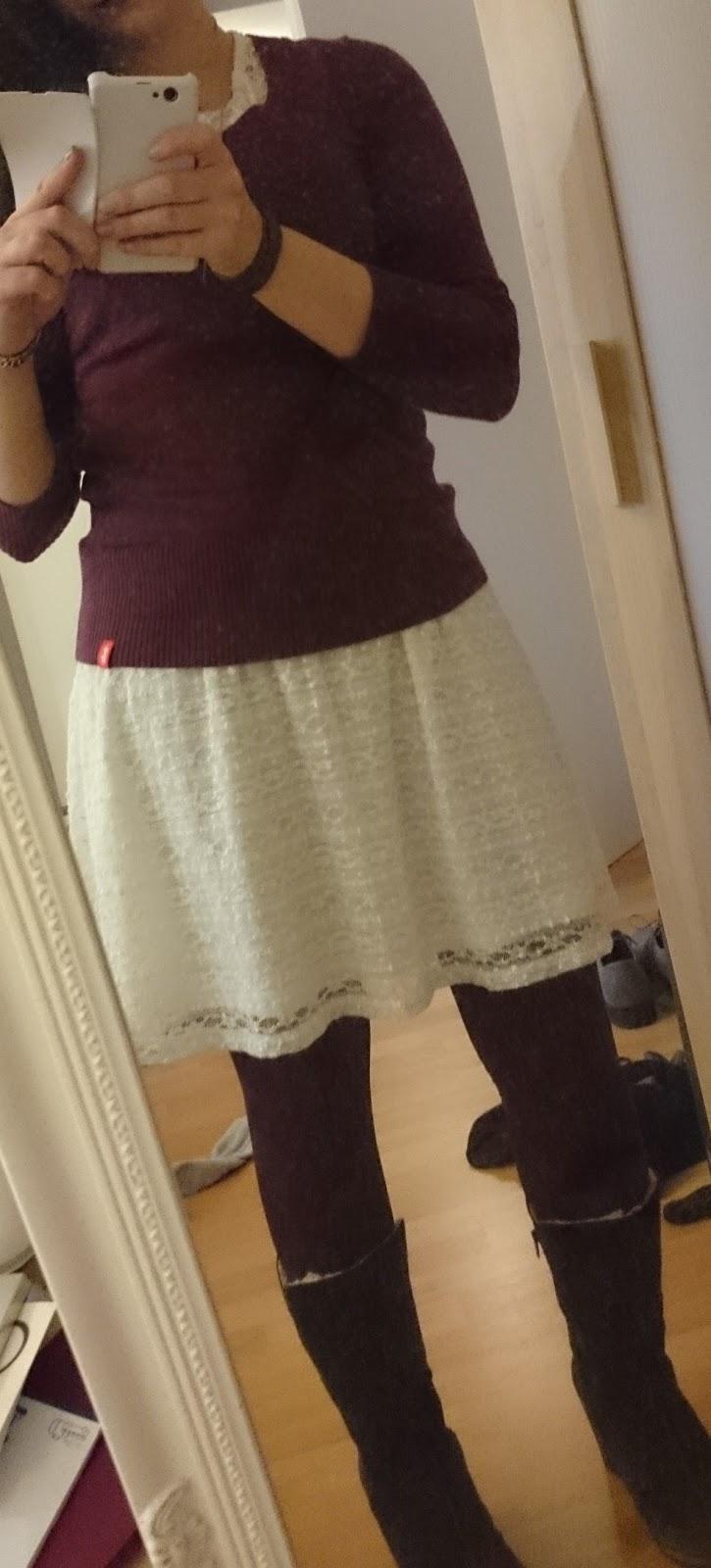 Sommerkleid und Kuschelpulli