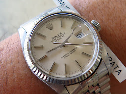 ROLEX OYSTER PERPETUAL DATE JUST SILVER DIAL - ROLEX 16014 SILVER DIAL