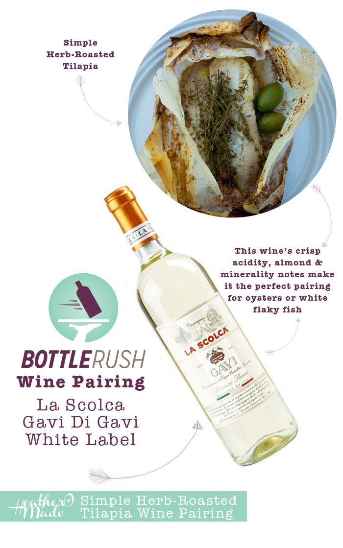Thirsty Thursday. Simple Herb-Roasted Tilapia. Wine Pairing.