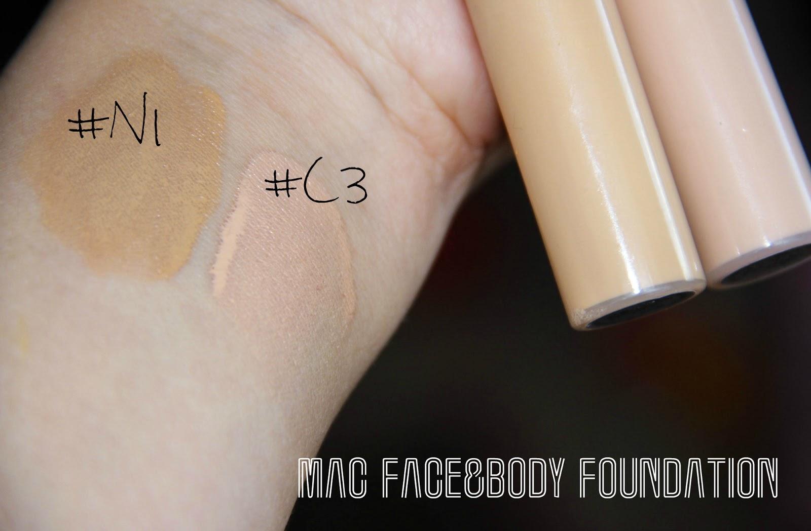 mac face body foundation n1 c3 juliadecember