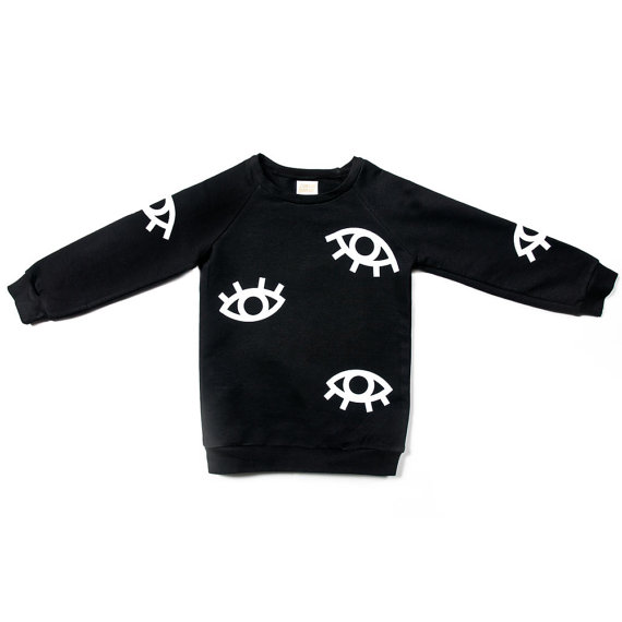 all eyes print kids sweater