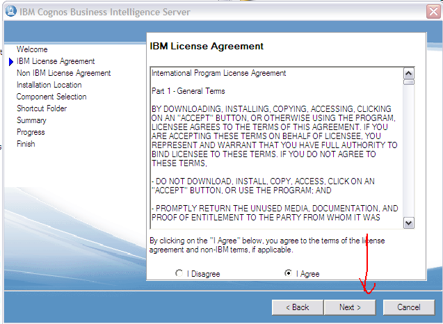Cognos 101 installation and configuration steps on windows xp 32 step 3 read the license agreement carefully and accept terms platinumwayz