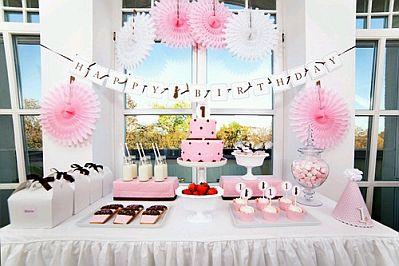 Decoracion de bautizos color rosado parte 2 - Como decorar un salon para bautizo ...